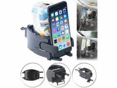 Support 2 en 1 automobile pour smartphone et boisson