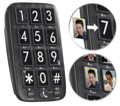 telephone fixe grandes touches pour senior sans combiné avec haut parleur et touches numerotation rapide avec photos XLF-30 simvalley