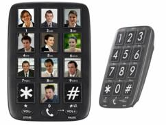 téléphone mains libres avec touches de raccourci photos et signal visuel simvalley communications
