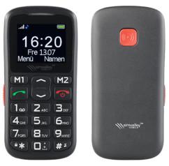 téléphone portable simple pour senior personne agee avec bouton sos et appels rapides simvalley xl-915