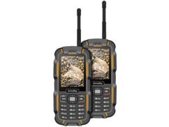 2 téléphones outdoor Dual SIM ''XT-980'' avec fonction Talkie Walkie