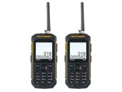 """2 téléphones portables outdoor Dual SIM avec fonction talkie-walkie """"XT-820"""""""