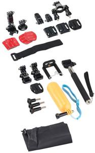 20 accessoires pour caméras sport Somikon et GoPro