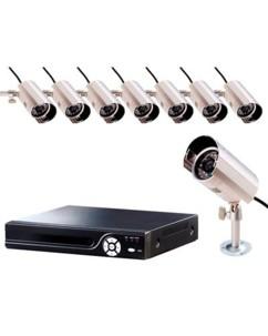 Enregistreur de vidéo-surveillance H.264 avec 8 caméras