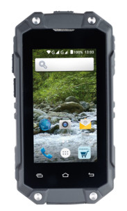 "mini smartphone android antichoc outdoor avec ecran 2,5"" simvalley SPT-210"