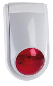 sirene d'alarme pour systeme xmd5400 visortech avec lumiere led rouge clignotante
