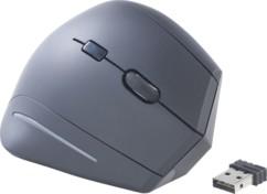 Souris optique ergonomique 1600 DPI, 6 boutons - Sans fil