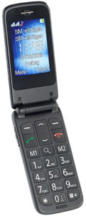 """Téléphone portable à clapet Dual SIM """"XL-947"""" avec fonction d'urgence"""