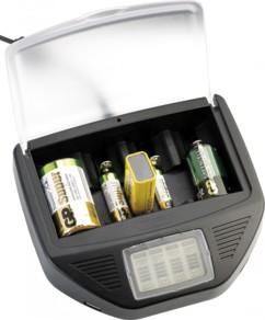 Chargeur universel pour piles alcalines et batteries avec 2 ports USB