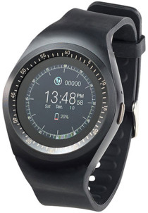 smartwatch ronde style veritable montre avec port sim et fonctions fitness simvalley pw-410