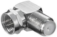adaptateur antenne coudé fiche f mâle vers femelle goobay 11390