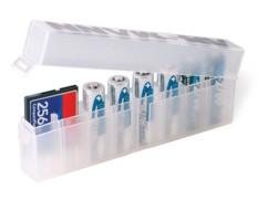 Boîte de rangement pour cartes mémoire et piles