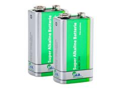 2 piles bloc 9V alcaline SuperLife 6LR61