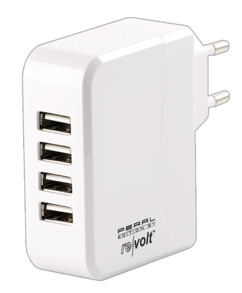 Chargeur secteur USB 4 ports Smart Power 24 W
