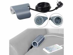 Multiprise pour canapé avec 2 ports USB