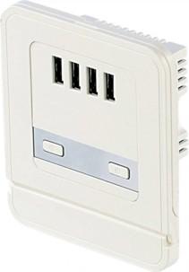 Prise USB murale à 4 ports 15 W