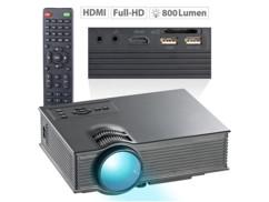 Projecteur vidéo LED / LCD compact LB-8300.mp, 800 lm