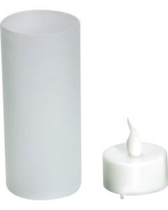 Bougie chauffe-plat à LED avec photophore