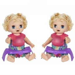 """Lot de 2 poupées """"Baby Alive Adore manger""""."""