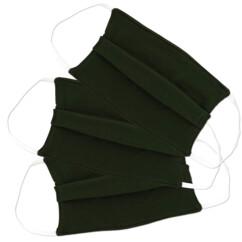 3 masques en coton - Kaki