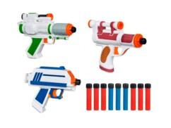 Lot de 3 pistolets Nerf Star Wars avec projectiles en mousse.