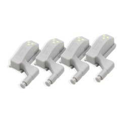Quatre lampes à charnière LED pour placard Astulight.