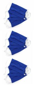 9 masques en coton - Bleu