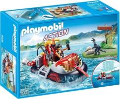Boîte Playmobil n°5637 : Aéroglisseur avec moteur submersible.
