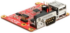 Carte d'extension pour Raspberry Pi - 2x USB + 2x Série RS232