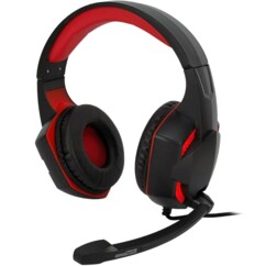 Casque Gaming Amstrad AMS H555 rouge.