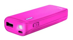 Chargeur mobile Primo PowerBank Trusr 4400 mAh rose.