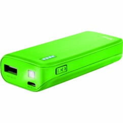 Chargeur mobile Trust Primo PowerBank 4400 mAh vert néon.