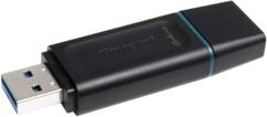 Clé USB 3.2 Gen 1 avec capuchon retiré et connecteur USB visible, vue de biais