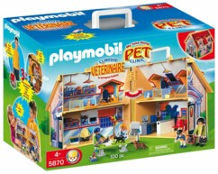 Clinique vétérinaire transportable Playmobil 5870.