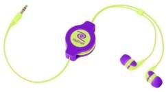 Écouteurs intra-auriculaires rétractables Neon - Violet/Jaune