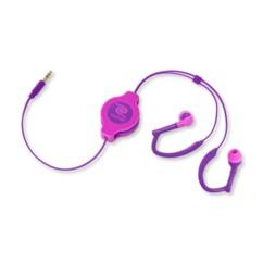 Écouteurs intra-auriculaires rétractables Sport - Rose/violet