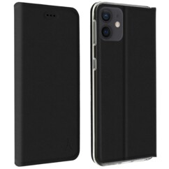 Étui folio Akashi ALTFIP12PBLK pour iPhone 12 et iPhone 12 Pro.