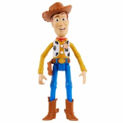 Figurine parlante de Woody dans Toy Story.