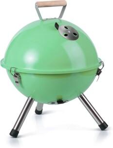 Mini barbecue à charbon Gastrolux vert.