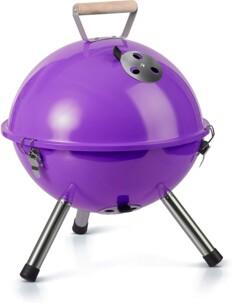 Mini barbecue à charbon Gastrolux violet.
