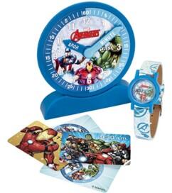 Montre analogique, horloge de démonstration et carte éducatives pour apprendre à lire l'heure.