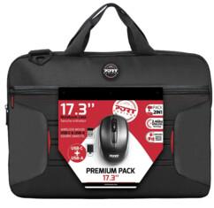 """Pack Premium PORT Designs avec 1 sacoche pour ordinateurs portables 17"""" et une souris sans fil."""