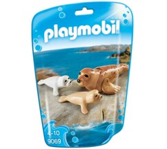"Phoque et ses petits Playmobil Collection ""Le Zoo"" n°9069."