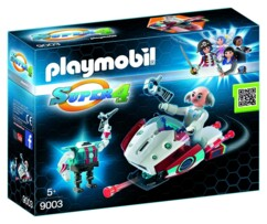 Packaging du set Playmobil Super 4 n°9003  Sky Jet et Docteur X.