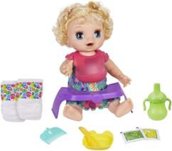 """Poupée interactive """"Baby Alive Adore manger"""" par Hasbro."""