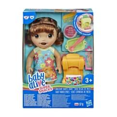 """Poupée interactive """"Baby Alive Bébé régal de pâtes"""" - Brune"""