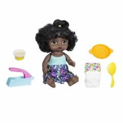 Poupée interactive Baby Alive miam miam les bonnes pâtes avec ses accessoires.