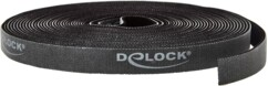 Rouleau de bande scratch noire de 10 mètres de la marque DeLock.