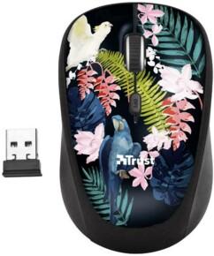 Souris optique sans fil Trust Yvi Parrot avec nano-récepteur USB.