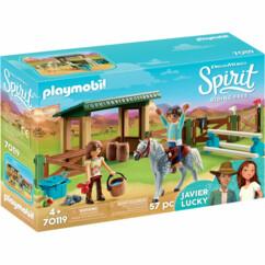 Boîte Playmobil Spirit : Entrainement de Lucky et Javier n°70199.
